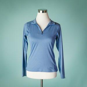 Patagonia S Blue Capilene 1/4 Zip Top